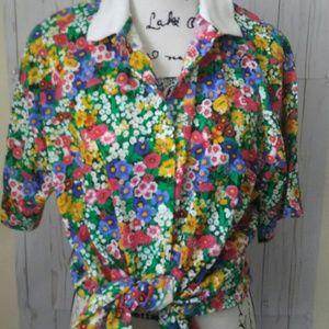 VTG Floral Top SZ XL
